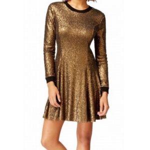 Rachel Rachel Roy Gold Copper sequin Dress
